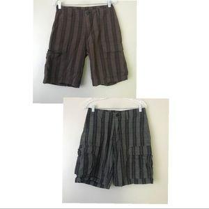 ☀️ 2x Patagonia Plaid Organic Cotton Cargo Shorts